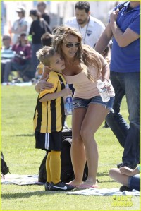 Britney Spears is a Proud Soccer Mom